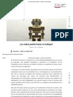 ¿Un Robot Podría Hacer Mi Trabajo_ – Fundación Carlos Vial Espantoso