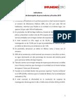Índice estatal de desempeño de procuradurías y fiscalías 2019