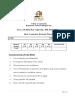 ELEC 375 L51 Final Exam Solution