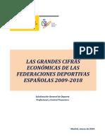 Grandes Cifras Económicas de Las FFDDEE 2009-2018