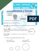 Circunferencia y Circulo Para Cuarto de Primaria
