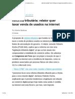Reforma Tributária Relator Quer Taxar Venda de Usados Na Internet