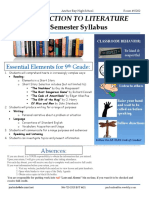 syllabus semester 1