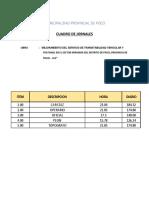 Cuadro de Jornales 2