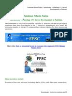 Pakistan Affairs Notes _ Information Technology (IT) Sector Development in Pakistan