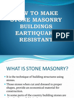 How to Make Stone Masonry Buildings Earthquake Resistant