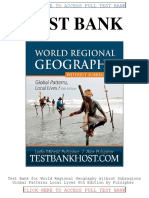 Test Bank World Regional Geography Without Subregions Global Patterns Local Lives 6th Edition