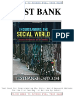 Test Bank Understanding the Social World Research Methods for the 21st Century 1st Edition