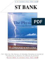 Test Bank the Physics of Everyday Phenomena a Conceptual Introduction to Physics 8th Edition
