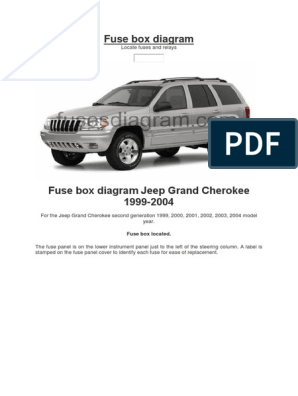 Fuse Box Diagram Jeep Headlamp Fuse Electrical