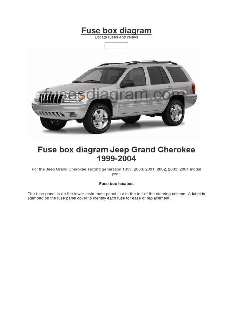 fuse box for 2004 jeep grand cherokee fuse box diagram jeep headlamp fuse  electrical   fuse box diagram jeep headlamp fuse