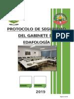Protocolo se seguridad de Laboratorio de edafologia