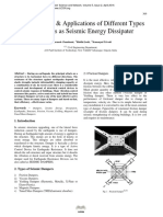 Characteristics and Applications of Different Types of Dampers as Seismic Energy Dissipater