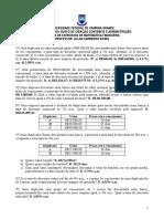 2º Lista de Exercicio de Matematica Financeira (1)