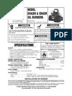 Manual EH, EHA, EHASR Oil Powered Burners