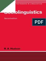(Cambridge Textbooks in Linguistics) R. A. Hudson - Sociolinguistics-Cambridge University Press (1996).pdf