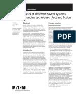Characteristics Power Systems Neutral Grounding Techniques Fact Fiction Ap083005en