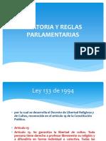 Oratoria y Reglas Parlamentarias