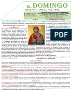 11 Domingo Post Pentecostes 2019
