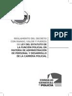 Estatuto Función Policial Administración Personal Desarrollo Carrera
