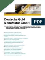 Deutsche Gold Manufaktur GmbH Landshut