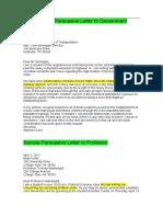 Sample Persuasive Letters