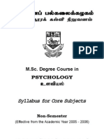 MSc Psychology