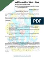 Resolución de Paralizacion de Obra e Inprocedencia 2019