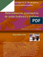 Determinación gravimetría de ácido fosfórico y fosfatos.ppt