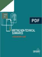 Writing NTS Summaries