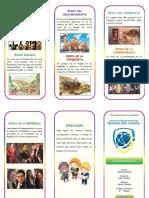 Triptico Línea de Tiempo Historia Del Perú