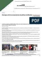 Nicaragua Sufre Las Consecuencias de Políticas Neoliberales - LVDS