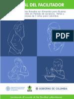 Guias alimentarias basadas en alimentos para mujeres gestantes, madres en periodo de lactancia, niños y niñas menores de 2 años para Colombia