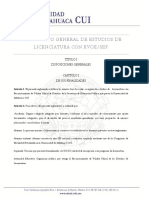 Reglamento General Estudios Licenciatura Rvoe Sep