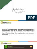 Crecimiento Redes Sociales en Colombia