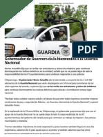 02-07-2019 Gobernador de Guerrero Da La Bienvenida a La Guardia Nacional.