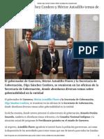 03-07-2019 Abordan Olga Sánchez Cordero y Héctor Astudillo temas de gobernabilidad.