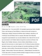 07-07-2019 Astudillo Inaugura Carreras en La Sierra de Guerrero.