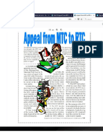 MTC to RTC Appeal Procedure