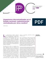 176 DPP GP Organismos Descentralizados en El Estado Nacional2c Administración Centralizada Por Otros Medios Jimena Rubio2c Enero 2018 VF