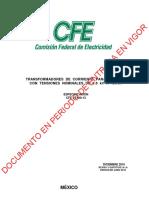 ESPECIFICACIÓN DE CFE TC'S