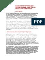 ALMACENAMIENTO NO REFRIGERADO O REFRIGERADO DE LA CARNE FRESCA Y LOS SUBPRODUCTOS COMESTIBLES.docx