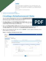 Reimbursement Claim Process Flow
