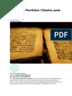 livros perdidos da bíblia