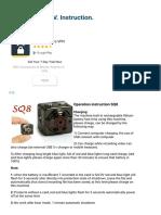 SQ8 Full HD 1080P Mini DV _ User Manual _ English