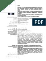Curriculum Vitae Mefm - Julio 2019