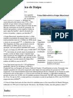 Usina Hidrelétrica de Itaipu – Wikipédia, A Enciclopédia Livre