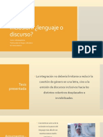 Inclusión -Lenguaje o Discurso