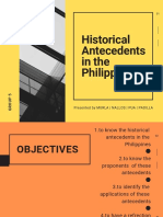 Historical Antecedents in the Philippines