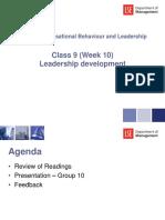 Class 9 (Week 10) - Leadership Development - Slides for Students